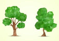 Árvore geométrica poligonal ilustração stock