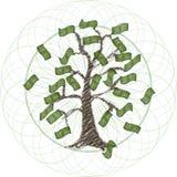 Árvore global do dinheiro ilustração stock
