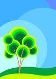Árvore ilustrada Imagens de Stock Royalty Free