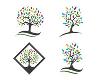 Árvore Logo Template de Eco Fotos de Stock Royalty Free