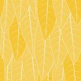 A árvore longa grande sae teste padrão sem emenda do amarelo branco Fotografia de Stock Royalty Free