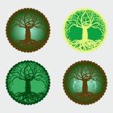 Árvore 4 mágica de medalhões da vida Imagem de Stock