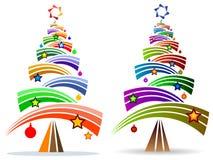 Árvore maciça curvada colorida sumário das barras x ilustração stock