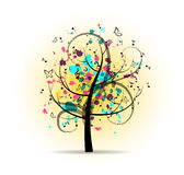 Árvore musical colorida abstrata Imagens de Stock Royalty Free