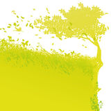 Árvore na borda ilustração stock