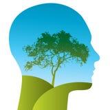 Árvore na cabeça Fotos de Stock Royalty Free