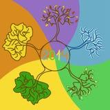 Árvore na estação quatro Imagens de Stock Royalty Free