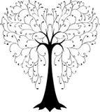 Árvore na fôrma de um coração Imagens de Stock Royalty Free