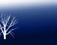Árvore no azul Imagem de Stock Royalty Free
