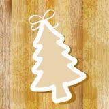 Árvore no fundo de madeira. + EPS8 Imagem de Stock Royalty Free