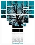 Árvore nos blocos com texto Imagem de Stock Royalty Free