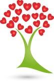 Árvore, planta do logotipo do coração, do naturopath e do bem-estar ilustração do vetor