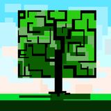 Árvore quadrada Imagem de Stock Royalty Free
