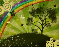 Árvore só no por do sol Foto de Stock Royalty Free