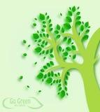 A árvore vai conceito verde Ilustração do Vetor