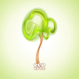 Árvore verde abstrata Imagem de Stock Royalty Free