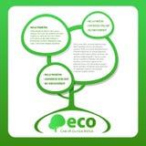 Árvore verde no branco Imagem de Stock