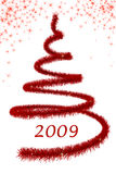 Árvore vermelha de Christimas Imagem de Stock Royalty Free