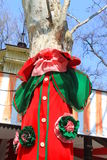 Árvore vestida na roupa colorida Imagem de Stock Royalty Free