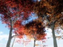 Árvores abaixo de 3 ilustração royalty free