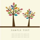 Árvores abstratas Imagens de Stock