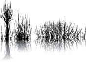 Árvores abstratas Imagens de Stock Royalty Free