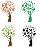 Árvores abstratas dos ícones Fotos de Stock Royalty Free