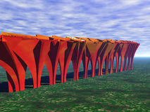 Árvores abstratas na queda ilustração stock