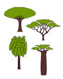 Árvores africanas Imagens de Stock Royalty Free
