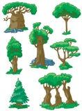 Árvores ajustadas Imagens de Stock Royalty Free