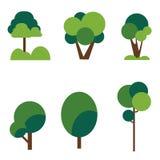 Árvores ajustadas Foto de Stock Royalty Free