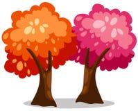 Árvores coloridas Imagem de Stock