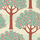 Árvores com corações Fotografia de Stock