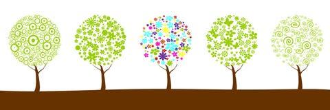 Árvores da flor como o planeta Imagem de Stock Royalty Free