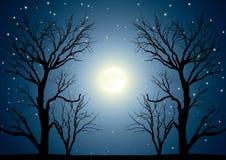 Árvores da lua ilustração stock
