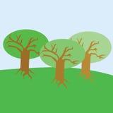 Árvores da mola Imagens de Stock Royalty Free