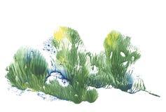 Árvores da mola, floresta em estações diferentes, pintura do desenho da abstração foto de stock