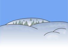 Árvores da neve das montanhas, Imagem de Stock Royalty Free