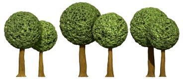Árvores dadas fôrma bola, 3d baseado Fotografia de Stock