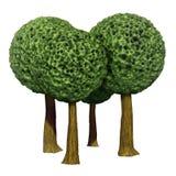 Árvores dadas fôrma bola, 3d baseado ilustração royalty free
