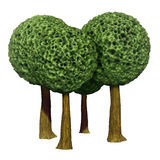 Árvores dadas fôrma bola, 3d baseado Fotografia de Stock Royalty Free