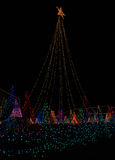 Árvores das luzes de Natal grandes Imagem de Stock Royalty Free
