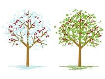 Árvores de cereja ilustração stock