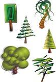 Árvores de Clipart Foto de Stock Royalty Free