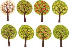 Árvores de fruta ilustração royalty free