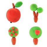 Árvores de maçã do Plasticine Foto de Stock