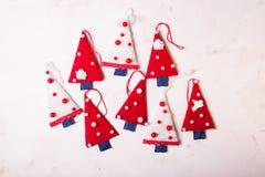 Árvores de matéria têxtil do Natal Imagem de Stock Royalty Free