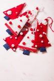 Árvores de matéria têxtil do Natal Fotografia de Stock