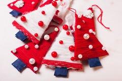 Árvores de matéria têxtil do Natal Foto de Stock