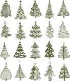 Árvores de Natal ilustração stock